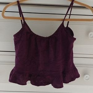 Gause crop top with open tie back